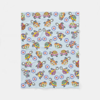 Cartoonschildkröten Fleecedecke