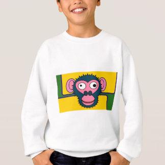 Cartoonschimpanse Sweatshirt
