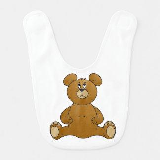 Cartoonteddy-Bärn-Baby-Schellfisch Lätzchen