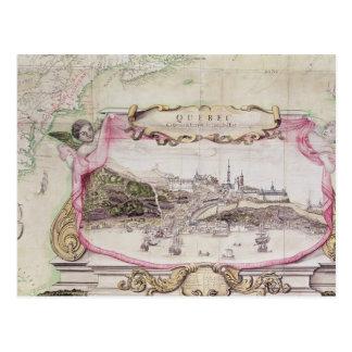 Cartouche von Quebec Postkarte