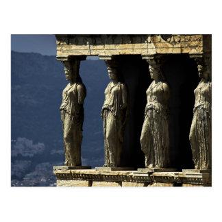 Caryatids, Acroplis, Athen Postkarte