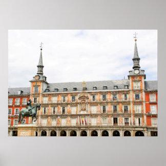 Casa de la Panaderia, Piazza-Bürgermeister, Madrid Poster