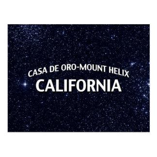 Casa de Oro-Berg Helix Kalifornien Postkarte