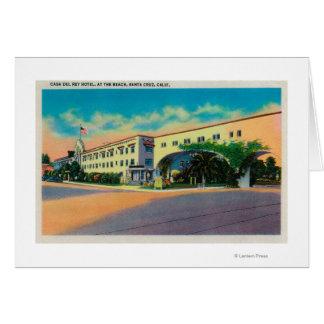 Casa Del Rey Hotel am Strand, Santa Cruz Karte