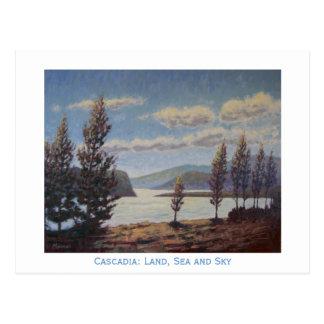 Cascadia: Land, Meer und Himmel Postkarte
