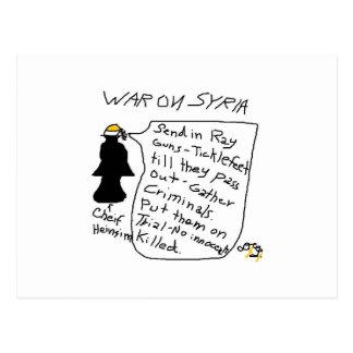 Casey Heinzism Krieg auf Syrien-Cartoon posty Postkarte