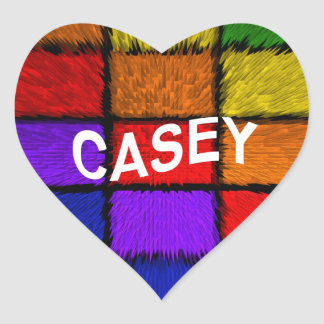CASEY Herz-Aufkleber