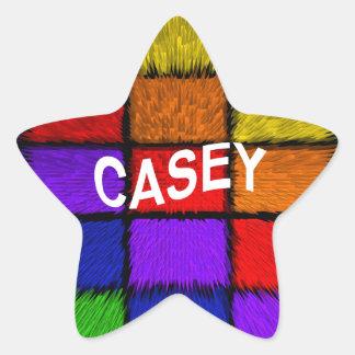 CASEY Stern-Aufkleber