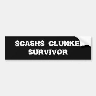 CASH$ CLUNKER-         ÜBERLEBENDER AUTOAUFKLEBER