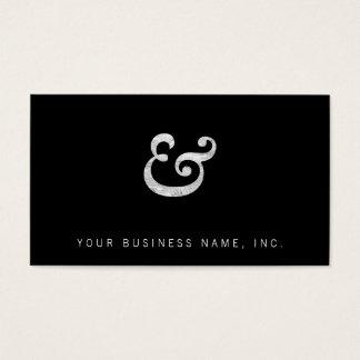 Caslon mutige Kursivschrift-Etzeichen-Weiß Visitenkarte