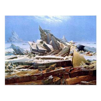CASPAR DAVID FRIEDRICH - das Meer von Eis 1824 Postkarte
