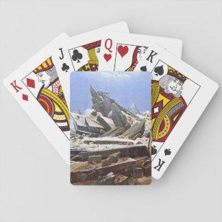 CASPAR DAVID FRIEDRICH - das Meer von Eis 1824 Spielkarten