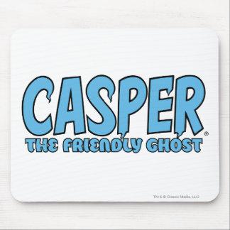 Casper das freundlicher Geist-blaue Logo 1 Mousepad