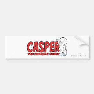 Casper das freundlicher Geist-rote Logo 2 Autoaufkleber