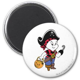 Casper im Piraten-Kostüm Runder Magnet 5,7 Cm
