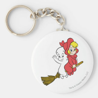 Casper- und Wendy-Reitbesen Schlüsselanhänger