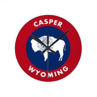 Casper, Wyoming Runde Wanduhr