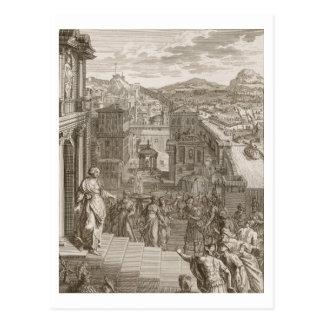 Cassandra sagt die Trojan ihr Schicksal voraus und Postkarte