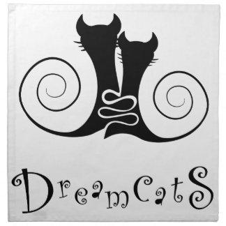 Casseminia - dreamcats mit Text Stoffserviette