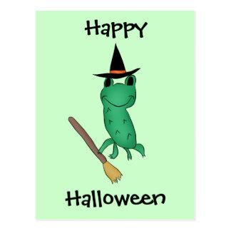 Cassies Halloween-Frosch Postkarte