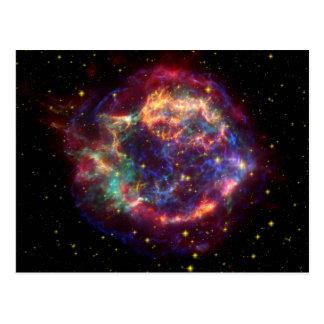 Cassiopeia-Galaxie-Supernovarest Postkarte