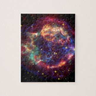 Cassiopeia-Galaxie-Supernovarest Puzzle