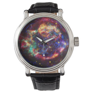 Cassiopeia-Galaxie-Supernovarest Uhr