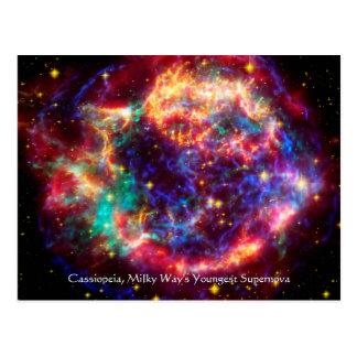 Cassiopeia, Milchstraße-jüngste Supernova Postkarte