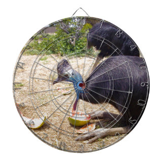 Cassowary-Vogel, der Melonen isst, Dartscheibe