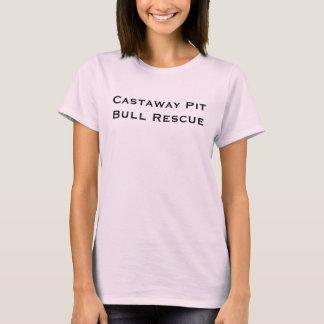 Castaway-Pitbull-Rettungs-Behälter T-Shirt