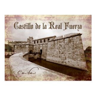 Castillo de la Real Fuerza, Havana, Kuba Postkarte