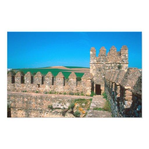 Castillo de Las Aguzaderas ist ein Schloss mit a Fotodruck