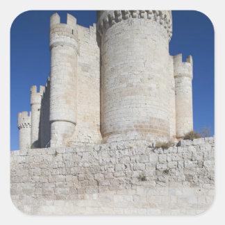 Castillo Penafiel, enthält Wein-Museum Quadratischer Aufkleber