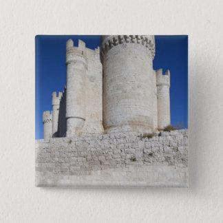 Castillo Penafiel, enthält Wein-Museum Quadratischer Button 5,1 Cm