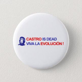 Castro ist tot. Viva La Evolución! Runder Button 5,1 Cm