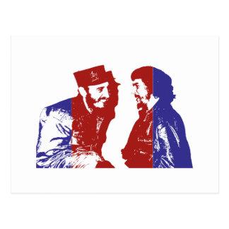Castro und Che Postkarte