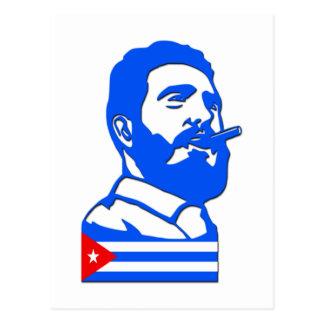 Castro und Kuba Postkarte