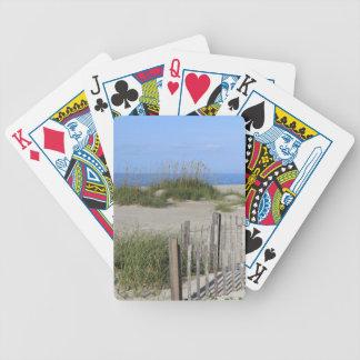 Caswell Strand, NC-Land und Meerblick Bicycle Spielkarten