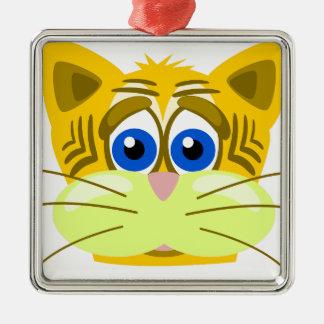 cat-1625949 quadratisches silberfarbenes ornament