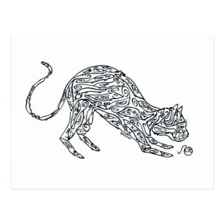 CAT - gemacht von den MÄUSEN Postkarte