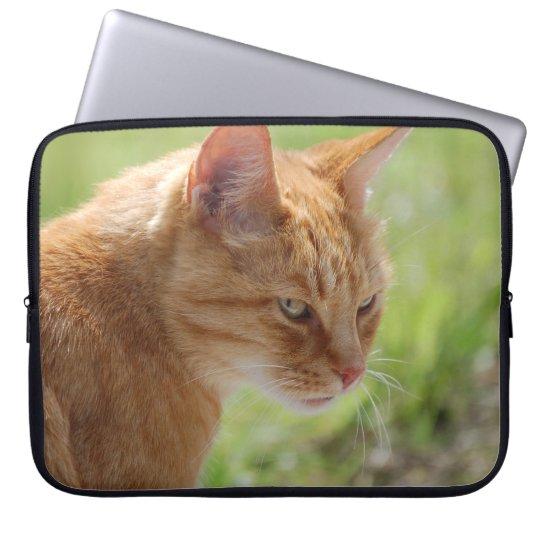 Cat Katze Chat - Photography Jean-Louis Glineur Laptop Sleeve