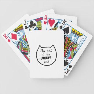 Cat-LIEBHABER-Shirts, Zusätze, Geschenke Bicycle Spielkarten
