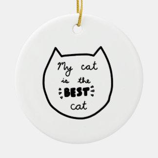 Cat-LIEBHABER-Shirts, Zusätze, Geschenke Keramik Ornament