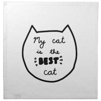 Cat-LIEBHABER-Shirts, Zusätze, Geschenke Stoffserviette