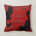 Cat Lover Pillow Cat Lover Gifts Cat Decor Throw Pillow