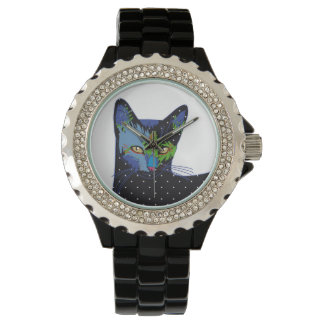 cat with dots uhr
