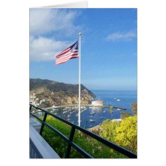 Catalina-Ansicht vom Gasthaus an Mt.Ada mit Flagge Karte