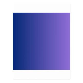 Catalina-Blau zur mittleren lila vertikalen Postkarte
