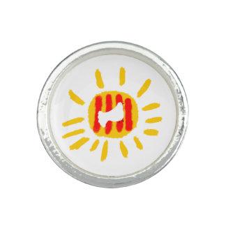 Catalunya Frieden tauchte mit Sonne. Ring