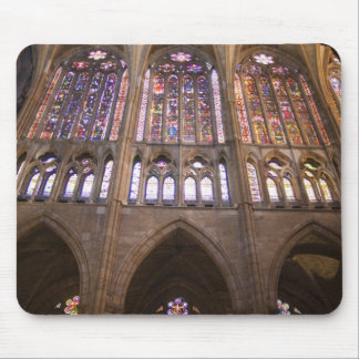 Catedral De Leon, InnenBuntglasfenster 2 Mousepad